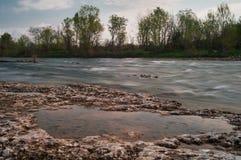 De rivier van Brembo Royalty-vrije Stock Foto