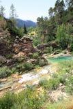 De rivier van Bron borosa Cazorla Segura siërra Spanje Royalty-vrije Stock Fotografie