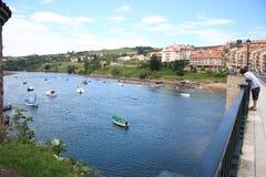 De rivier van Cantabrië Royalty-vrije Stock Foto's
