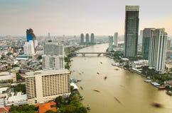 De rivier van Chaophaya Stock Afbeeldingen