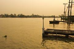 De rivier van Chaopraya van Thailand Stock Afbeeldingen