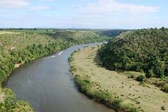 De rivier van Chavon Stock Foto