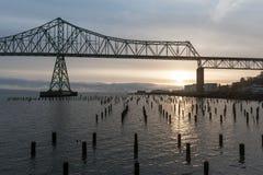 De Rivier van Colombia, Astoria, Oregon royalty-vrije stock fotografie