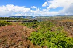 De rivier van Colombia Een mooie mening van het punt van de panaromamening Stock Foto