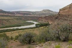 De Rivier van Colorado dichtbij Loma Stock Afbeeldingen