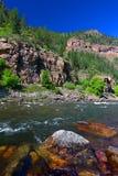 De Rivier van Colorado in Glenwood-Canion Royalty-vrije Stock Afbeelding