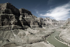 De Rivier van Colorado in Grote Canion Royalty-vrije Stock Afbeeldingen
