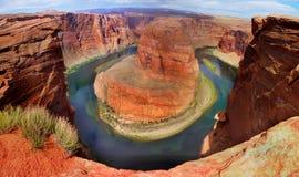 De Rivier van Colorado, Grote Marmeren Canion, Arizona Stock Afbeeldingen