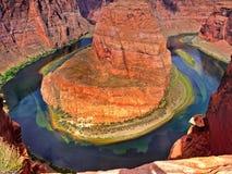 De Rivier van Colorado, Grote Marmeren Canion, Arizona Stock Afbeelding