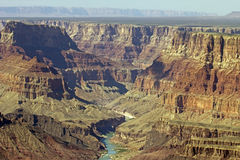 De Rivier van Colorado in het Nationale Park van Grand Canyon Stock Afbeelding