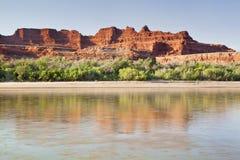 De Rivier van Colorado in Nationaal Park Canyonlands royalty-vrije stock foto