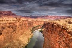 De Rivier van Colorado - Noordelijk Arizona Royalty-vrije Stock Afbeeldingen