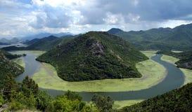 De rivier van Crnojevica stock foto's