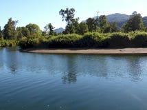 De rivier van Cuacua in het zuiden van Chil royalty-vrije stock foto's