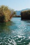 De rivier van Dalyan in Turkije Stock Foto