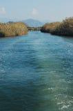 De rivier van Dalyan in Turkije Royalty-vrije Stock Fotografie