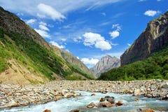 De rivier van de berg. royalty-vrije stock foto