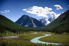 De rivier van de berg Stock Foto