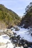 De rivier van de berg Stock Foto's
