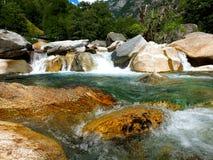 De rivier van de berg, Zwitserland Royalty-vrije Stock Fotografie