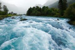 De rivier van de gletsjer Royalty-vrije Stock Afbeeldingen