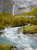 De rivier van de gletsjer stock foto