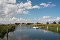 De rivier van de haven Royalty-vrije Stock Afbeeldingen