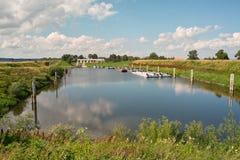 De rivier van de haven Stock Foto