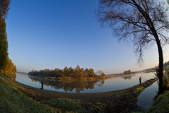 De rivier van de herfst Royalty-vrije Stock Fotografie