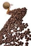 De rivier van de koffie stock foto's