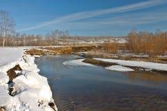 De rivier van de lente Royalty-vrije Stock Afbeeldingen