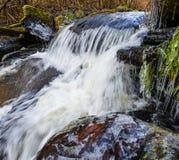 De rivier van de lente met ijs Royalty-vrije Stock Foto