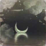 De rivier van de maan royalty-vrije illustratie