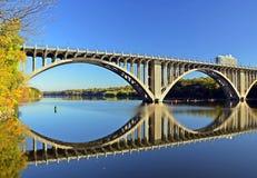 De rivier van de Mississippi. Stock Foto