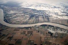 De Rivier van de Mississippi in Louisiane Stock Foto