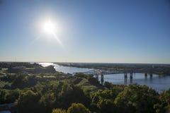 De Rivier van de Mississippi in Natchez Stock Foto