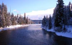 De rivier van de priester bij priestermeer Idaho Royalty-vrije Stock Afbeelding