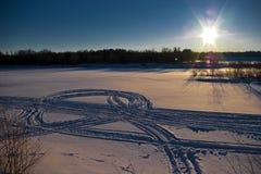 De rivier van de winter Royalty-vrije Stock Fotografie