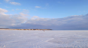 De rivier van de winter Stock Fotografie