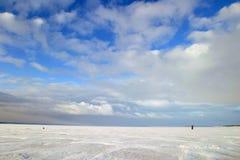 De rivier van de winter Royalty-vrije Stock Foto's