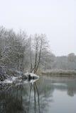 De rivier van de winter Stock Afbeeldingen