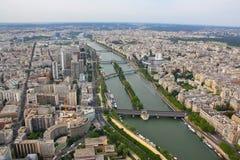 De Rivier van de zegen, Parijs Stock Foto's