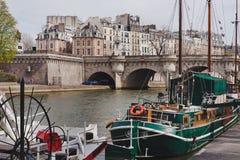 De rivier van de zegen in Parijs Stock Afbeelding