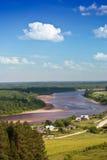 De rivier van de zomer Stock Afbeeldingen