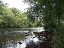 De rivier van de zomer Royalty-vrije Stock Afbeelding