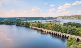 De rivier van Dnieper Stock Foto