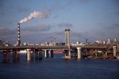 De rivier van Dniepr Stock Foto's