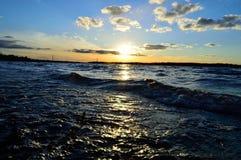 De rivier van Dniepr Stock Afbeeldingen