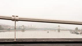 De Rivier van Donau in de Mist Stock Foto