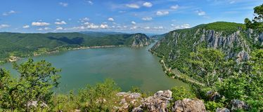 De Rivier van Donau, Roemenië stock fotografie